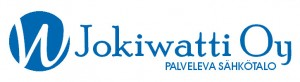 Jokiwatti sininen logo